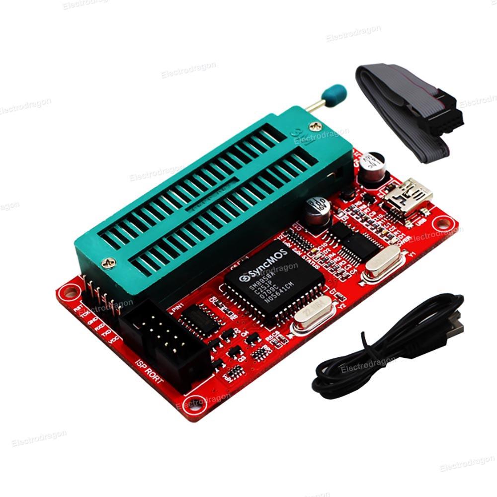 SP200S+ USB ISP Programmer (For MCUs, EEPROM, etc)