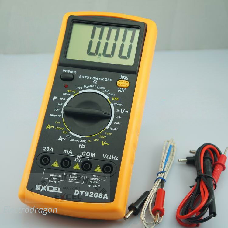 [Retired] **Full-Function Multimeter (w/Temperature, Frequency)
