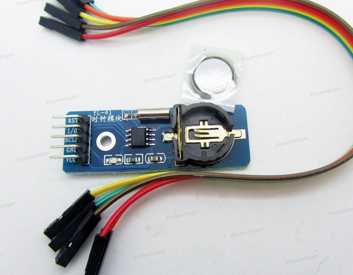 DS1302 RTC module w/CR1220 Holder