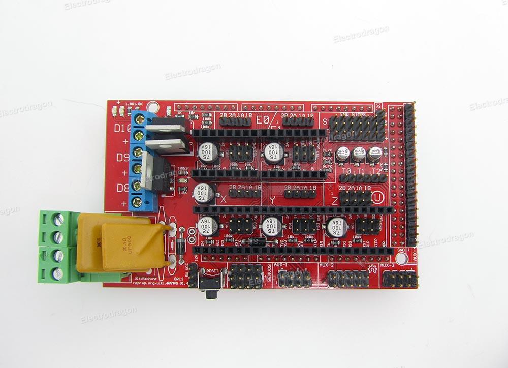 Ramps 14 For Reprap Arduino Mega Assembled Electrodragon
