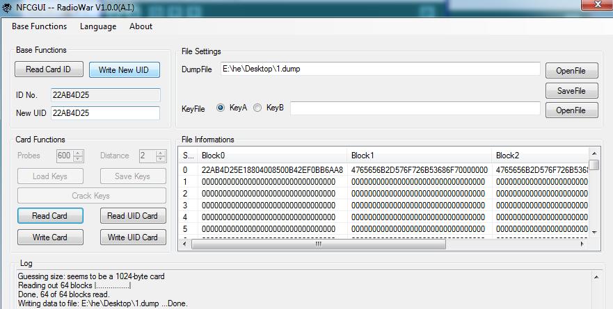RC522 Write a Card Demo Code - ElectroDragon