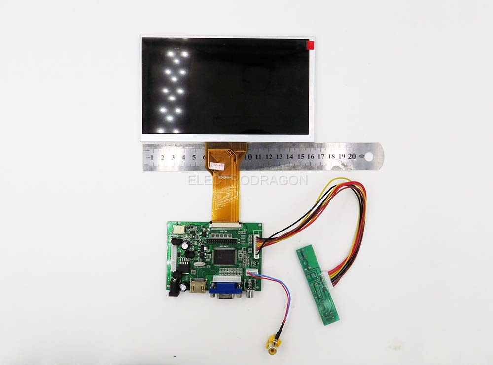 7'' LVDS LCD and Controller Board for RPI [Options]