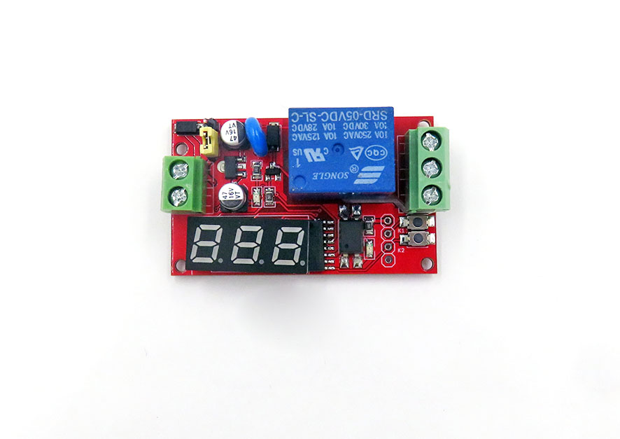 Intermittent Switching Relay Module, STC MCU, R1