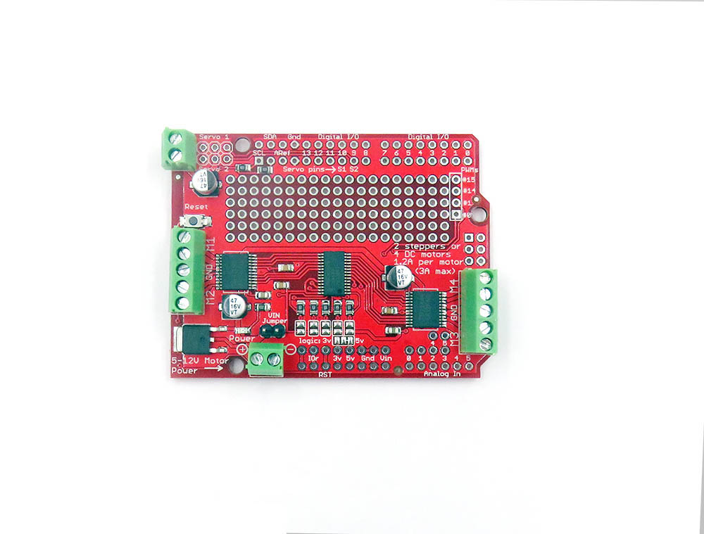 Motor Servo Stepper Drive Arduino Shield, PCA9685